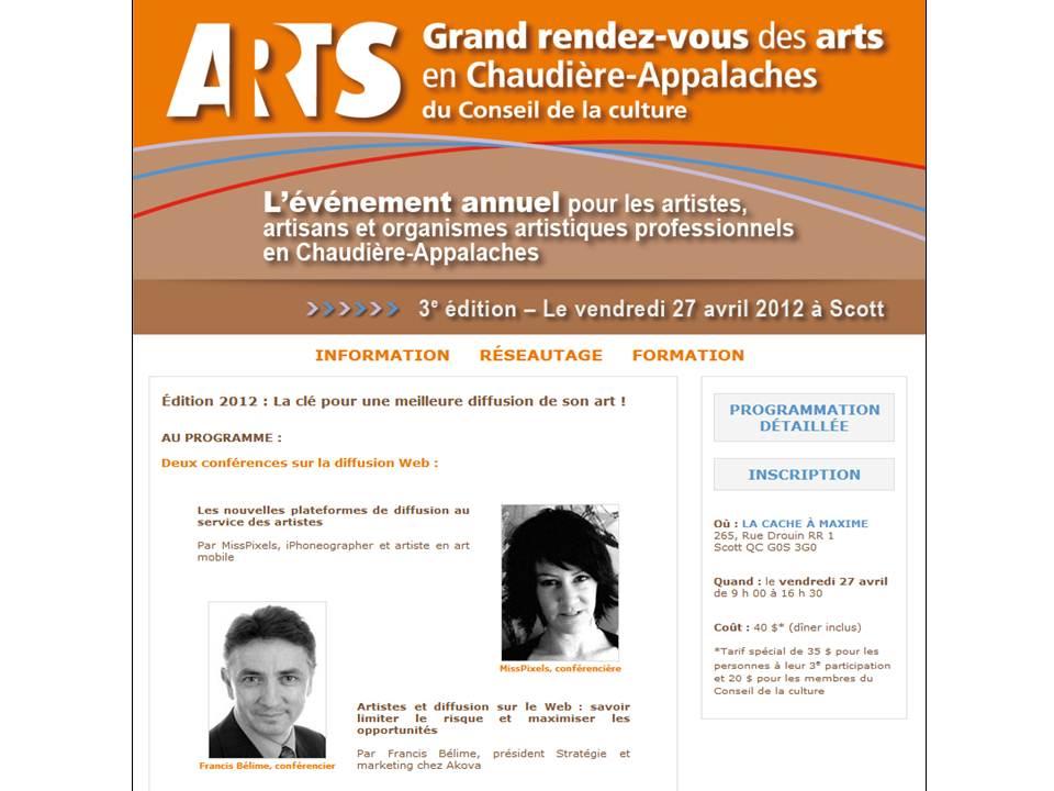 """Conférence du Conseil de la Culture : """"La clé pour une meilleure diffusion de son Art"""""""