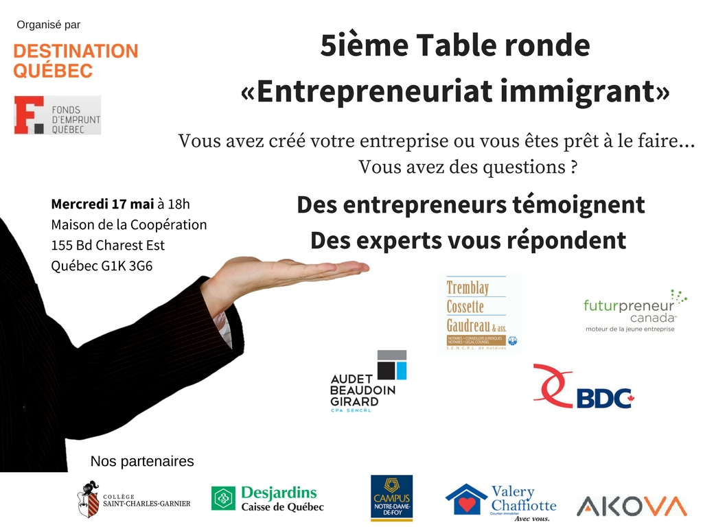 Table Ronde Entrepreneuriat Immigrant