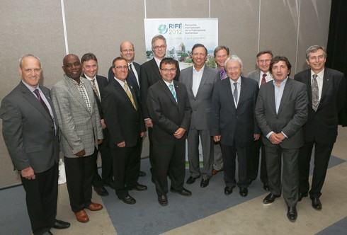 Le comité organisateur de la Rencontre internationale de la francophonie économique RIFE 2012