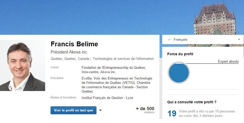 profil linkedin francis belime