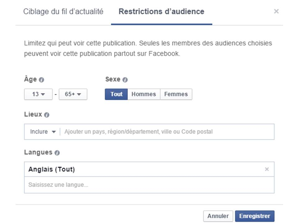 pulbication multilingue facebook