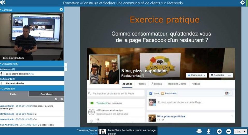 formation facebook linkedin à distance
